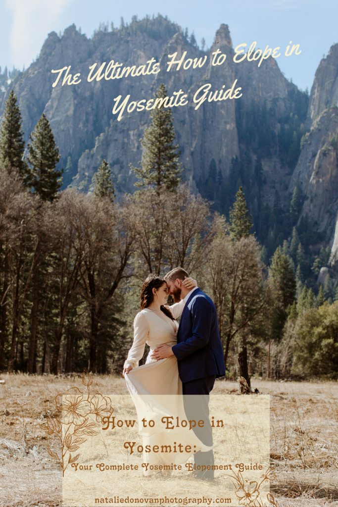 This is your ULTIMATE Guide on how to Elope in Yosemite National Park. I don't know if your as obsessed with it as me, I hope you are. But maybe just looking at this step-by-step guide on how to Elope in Yosemite will inspire what it looks like to say your vows amongst half dome and around the park. Click the link below & start dreaming.